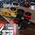 Universal 3 in 1 Clip-On Fish Eye + Wide Angle + Macro Lens Camera For iPhone 4 5 5S 5C Samsung Note 2 3 S4 S3 Phone,20pcs/lot