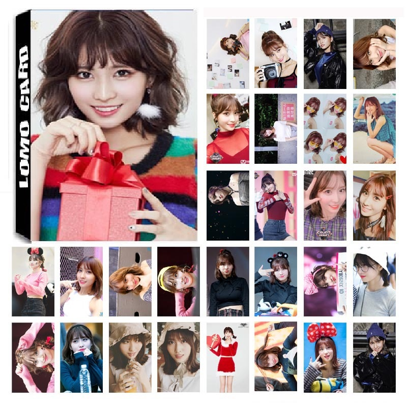 New 30Pcs/set KPOP Twice Girls MOMO Single 03 Album HD Photo Card PVC Self Made LOMO Photocard