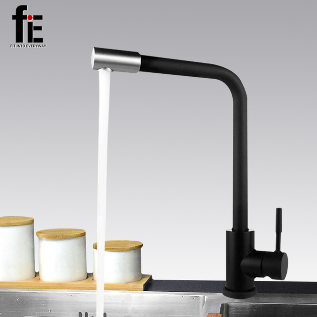 Fie Black Stainless Steel Multifunctional Kitchen Hot Cold Water