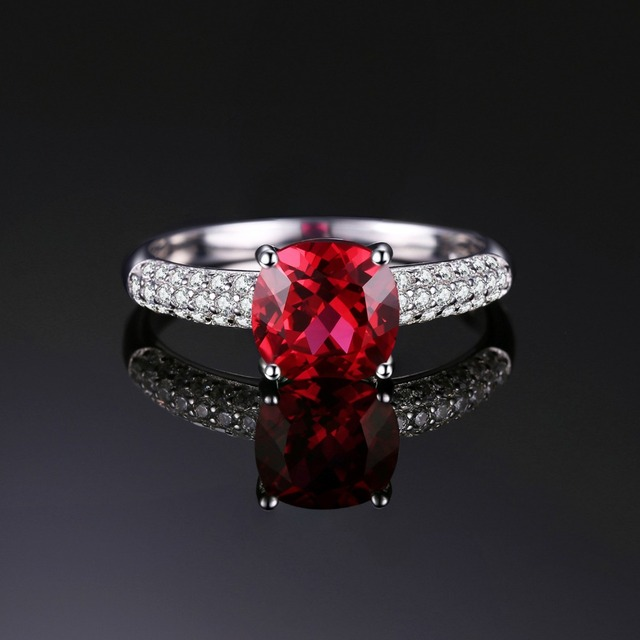 Red Ruby Solitaire Ring