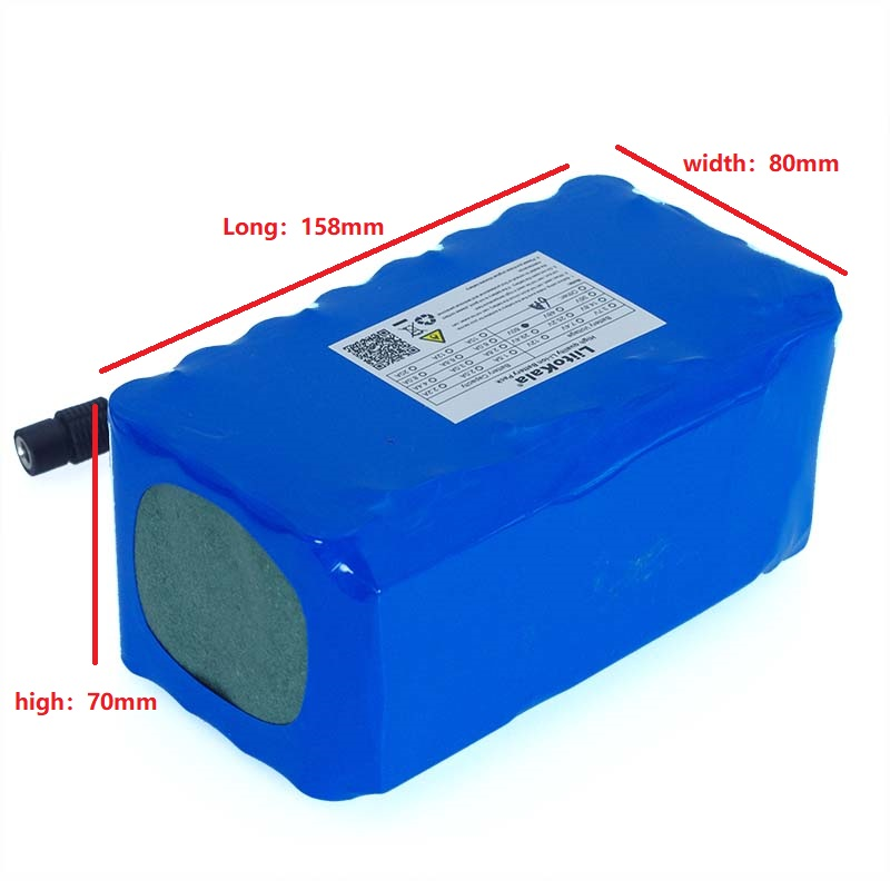 Image 2 - LiitoKala 16S2P 60V 6Ah 18650 Li ion Battery Pack 67.2V 6000mAh Ebike Electric bicycle Scooter with 20A discharge BMS 1000Watt-in Battery Packs from Consumer Electronics