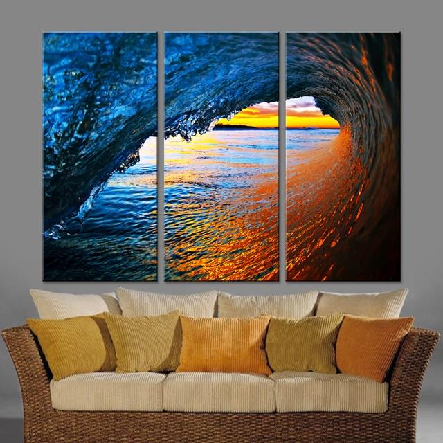 Welle Leinwand Set Malerei Wandkunst Modularen Bilder Für Wohnzimmer Moderne  Bilder Kunst Malerei Home Decor Drop