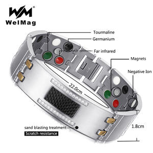 WelMag 2018 Crystal Magnetic for Men Male Wristband