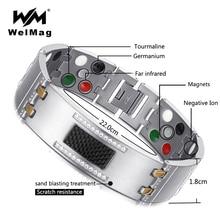 WelMag 2019 moda wykwintne kryształ magnetyczny tytanu bransoletki dla mężczyzn germanu turmalin mężczyzna zdrowia nadgarstek