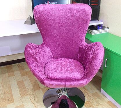 Comfortable fashion pink computer chair. Home game chair. Live chair.. the silver chair