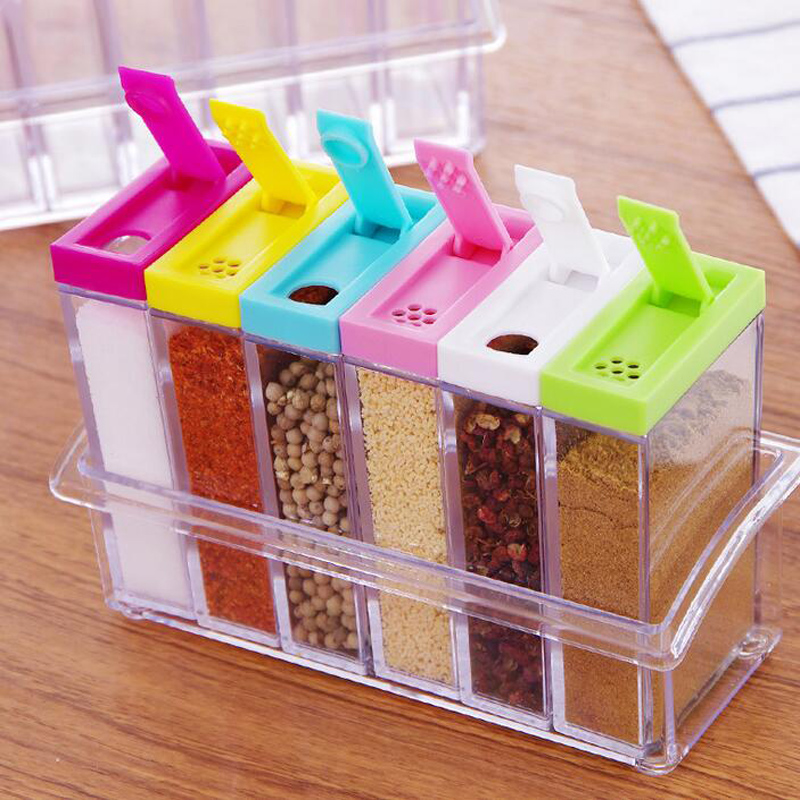 Seasoning Acrylic Spice Jar 6pcs