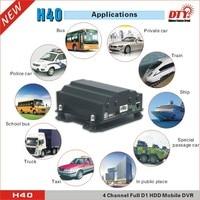 4 channels mobil DVR car MDVR support HDD SD 4G 4ch hdd vehicle car dvr H40-4G