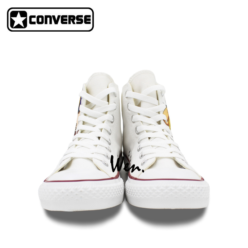 2669d6e8370149 Spike Spiegel Cowboy Bebop Design Converse All Star Anime Shoes Custom  White Canvas Sneakers Men Women Hand Painted Shoes-in Skateboarding Shoes  from Sports ...