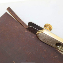 Copper Trimming Knife with Blade Leather Tools Herramientas Para Cuero Diy Incision Craft Knife Leather Cutting Knife 1pcs best various models blade sapphire stab incision knife head knife blade ophthalmic eye surgical instrument