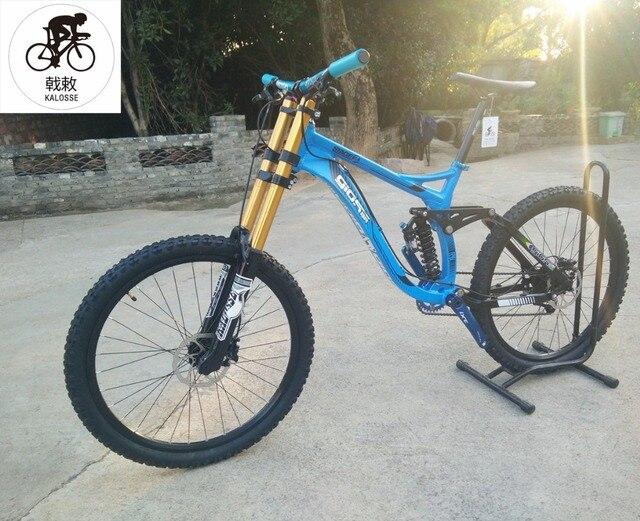 Kalosse  20*110mm  190mm travel  DH mountain bike   8/9/10/11  speed  full suspension  26*2.35er  Hydraulic  brakes