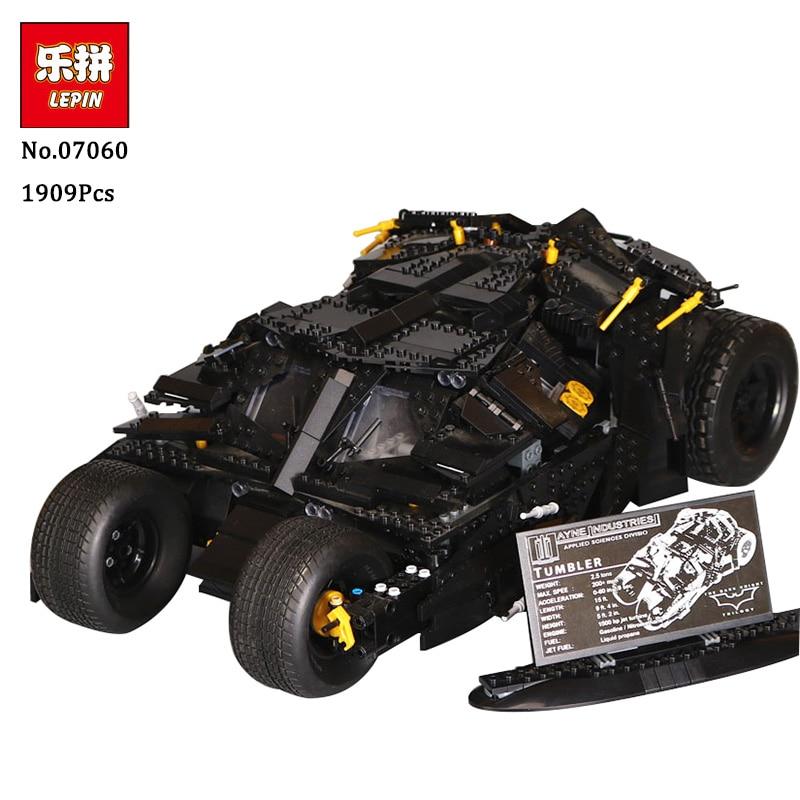 LEPIN 07060 Genuine Super Hero Movie Series The Batman Armored Chariot Set 76023 Educational Building Block Brick Boy Toys 7111