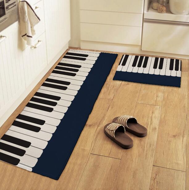 Cartoon Non-slip Kitchen Mat Piano Carpet Boy Girl Hallway Living Room Bedroom Carpets Parlor Bathroom Rug 40*60 50*80 45*115cm