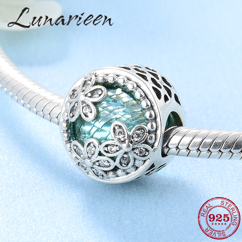 New 925 Silver Tree For Life CZ Enamel Charm bead Jewelry For Women Gift Present