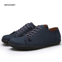 Los hombres Zapatos Casuales Zapatos de Cuero CON CORDONES de Verano Británico Zapatos de Los Hombres Zapatos de Conducción