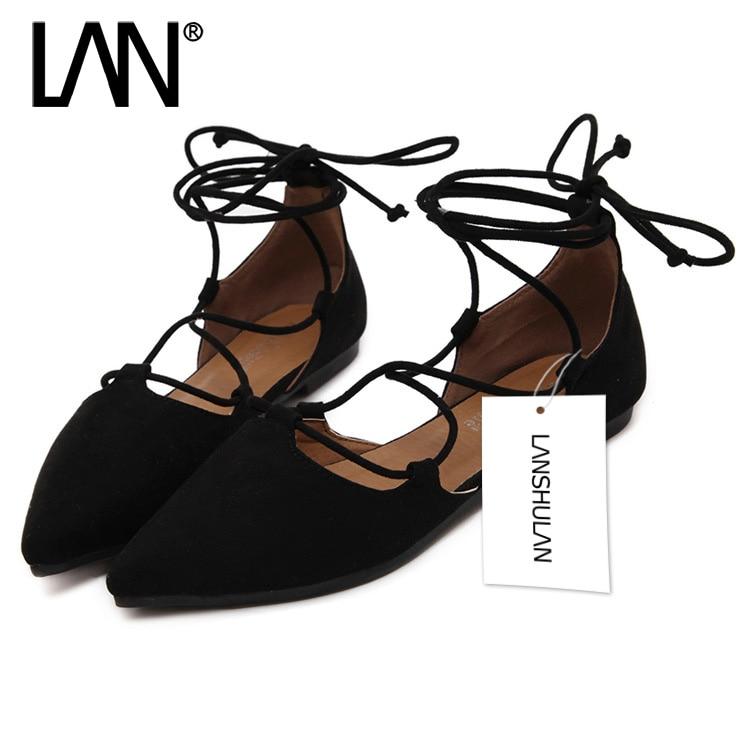 Moda 2017 Primavera Verano Mujeres Ballerina Flats Zapato con Cierre de Punta es