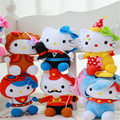New Arrival 1 pcs 15cm 20cm  Lovely Cat Plush Toys Baby Girls Soft Kawaii Plush Animals Doll 7 Styles  WL43-1