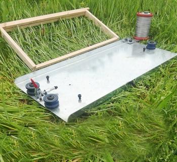 15%, Gietijzer Mesh Hit Bijenwas Machine Bijenteelt Apparatuur Duurzaam En Gemakkelijk Wasbaar Hand-strakke Honing Druk Machine
