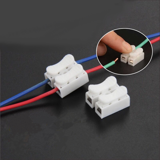 20pcs push type quick connection terminal two wire connector flame ...