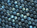 Free shipping Madagascar grade A+ labradorite 8-8.5mm smooth  loose beads