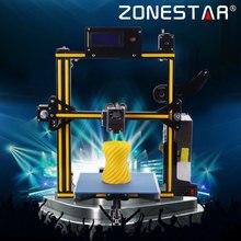 2017 Yeni Tespit tükendi Zonestar Isteğe Bağlı Otomatik Tesviye Filament Tam Metal Alüminyum Çerçeve 3d yazıcı DIY kit