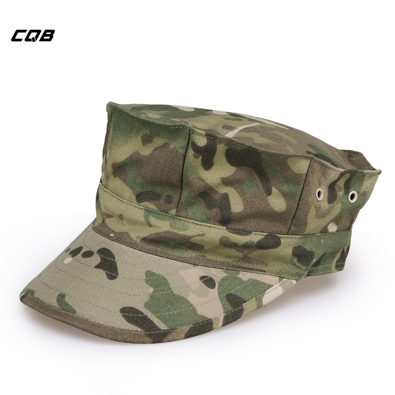 CQB Outdoor Sports Army Fans Octagonal Cap Menn Military Training Tactical Hats for Fishing Sunshade Cycling Hat