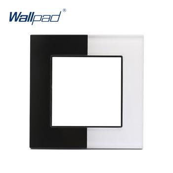 Wallpad białe i czarne szkło fortepianowe panelowe szkło hartowane podwójne kolorowe oprawki tylko szkło panelowe tanie i dobre opinie CN (pochodzenie) ROHS Function Part Z tworzywa sztucznego PRZEŁĄCZNIKI 12 Years Modular Part PRZEŁĄCZNIK WCISKANY S6 Series