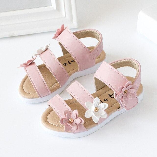 Fleurs chaussures bébé fille sandales enfants B... v3BuPU11y