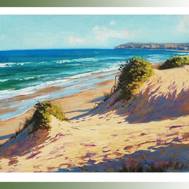 Strand oceaan zeegezicht schilderen olie doek surf