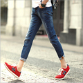 Summer style casual slim men jeans fashion straight cotton aankle length men pants Free Shipping MF7452136