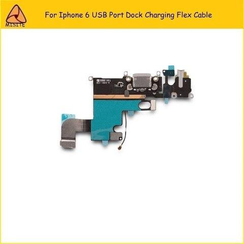 2Pcs/Lot New Phone Port Charging Flex for Iphone 6 6g 4.7 USB Dock Charger Port Connector Audio Jack headphone Flex Cable Multan