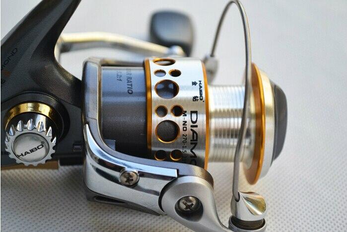 Haibo Diamond  series all-metal spinning reel 5 bearings  fishing gear ratio 5.2:1 tokushima hf series all metal double bearing 5 1 bearings spinning reel 4 5 1