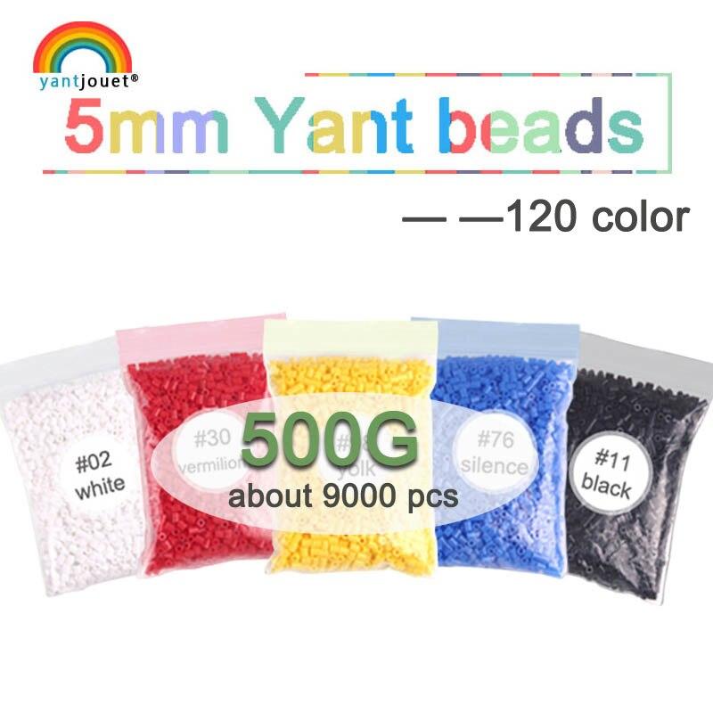 5mm YANT JOUET 500G 9000 pièces 120 perles de couleur pour enfants hama perles perler perles bricolage Puzzles de haute qualité fait à la main cadeau