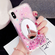 Mirror Dynamic Liquid Bling Quicksand Soft TPU Case For Huawei Mate 20 Lite Pro Y9 2019 Luxury Back Cover iphone X XR XS Max