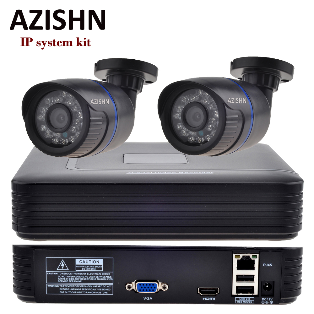 AZISHN CCTV System 4CH kit 720P/960P Security  IP CAMERA KIT 2.0 HDMI  P2P ONVIF 4CH NVR + 2PCS IP CAMERA AZISHN CCTV System 4CH kit 720P/960P Security  IP CAMERA KIT 2.0 HDMI  P2P ONVIF 4CH NVR + 2PCS IP CAMERA