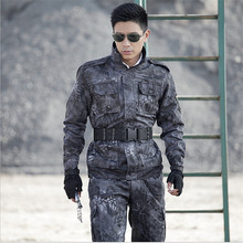 Tactical Army Military uniform combat suits Black jacket +pants one sets Military Plus Size 4XL Free Shipping Camouflage suits