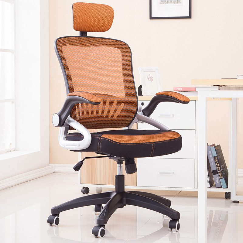 High Quality Breathable Mesh Cloth Office Chair Soft Cushion Armrest Lifting Swivel Computer Chair Household Leisure Staff Chair computer chair home office chair mobile no handrail small lift swivel chair mesh staff chair