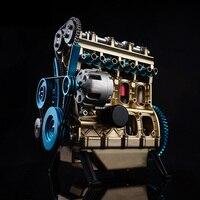 Цельнометаллический автомобильный мини сборный встроенный четырехцилиндровый двигатель модель игрушки для детей взрослых подарки 2019 мод