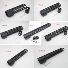 Купить с кэшбэком Black Anodized Slim Clamping Style Handguard Rail Free Floating Rail Mount System Fit .223 Rifle AR-15