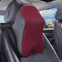 1pc Car Auto Seat Soft Headrest Pad Memory Foam Pad Pillow Head Neck Rest Support Cushion