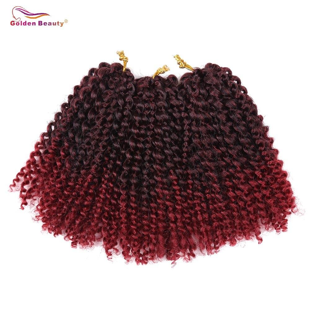 Golden Beauty 8inch Kinky Curly Syntetisk Braiding - Syntetiskt hår - Foto 4