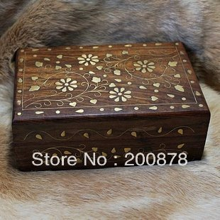 Tjb963 Indian Handmade Wooden Vintage Jewelry Box 15 10