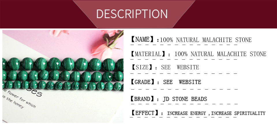 HTB1PqiTXsvrK1Rjy0Feq6ATmVXaf Natural Malachite Beads Dark Green Color 4 6 8 10mm Pick Size Semi-precious stones Accessories For Jewelry Making