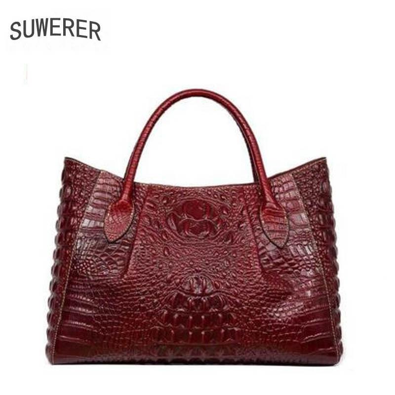 2017 New women bag genuine leather brands