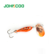 Spinner Baits JOHNCOO 4pcs Fishing Lure 11g 15g 20g Bass Pike Trout Bass Artificial Pesca Fishing Lures Peche Metal Spoon Good