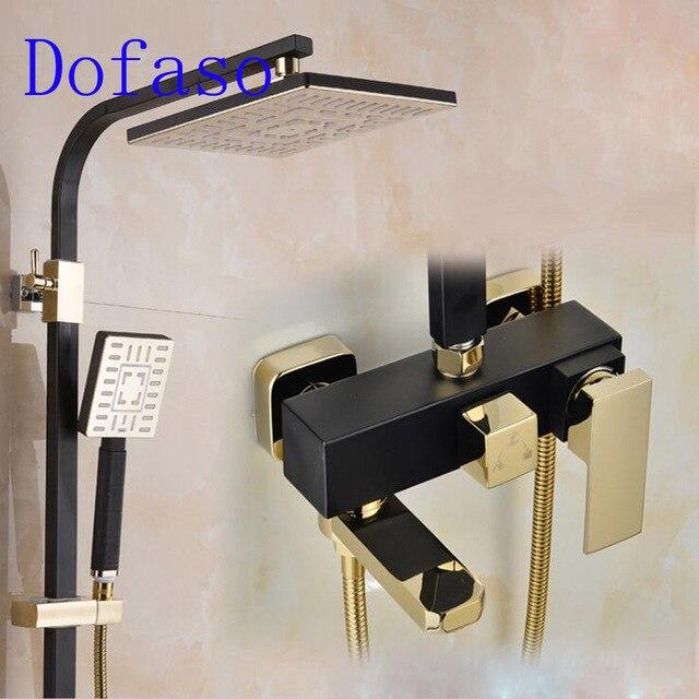 Dofaso Luxury Retro White And Black Shower Faucet Made By Copper Big Rain  Shower Vintage White