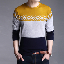 2016 spring and autumn men's sweater collar sleeve pullover men plus size thin sweater knitted kerst trui christmas sweater men