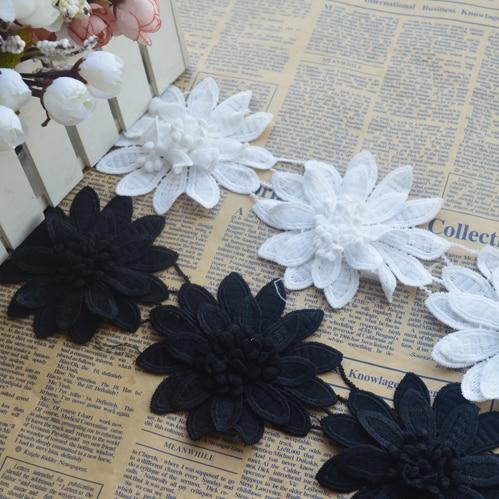 Milk silk lace, lace, black, white, garment, accessories, cloth, skirt, 9cm, DIY