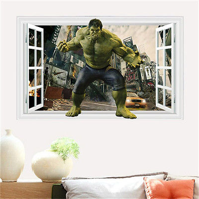 Window Wall Sticker The Avengers Green Hulk Decals Removable Kids Room Decor In Stickers From Home Garden On Aliexpress Alibaba Group