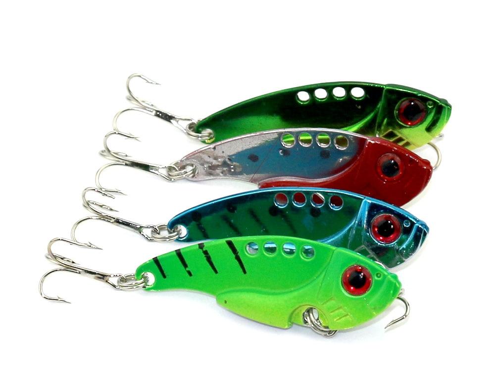 <font><b>4</b></font> <font><b>pcs</b></font> NEW <font><b>Metal</b></font> <font><b>VIB</b></font> fishing lure 5.5cm-11g <font><b>Vibration</b></font> fishing <font><b>hard</b></font> <font><b>bait</b></font> Pesca fish lures wobbler fishing tackle (VIB017)