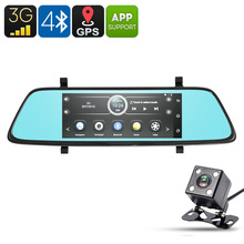 E-CEROS 1080p Car DVR Kit – Android OS, 6.86-Inch, GPS, 1080p Front Camera, Rear-View Parking Camera, Parking Monitor, 3G